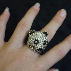 Bedazzled Panda Ring
